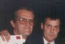 El padre Loredo junto a Nicolás Pérez-Díaz Argüelles (2do de izq. a der.).